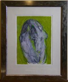 "Hans Laabs, 2001, ""Der Schläfer - the sleeper"" Works on Paper, signed. Abstract."