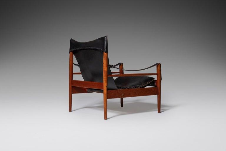 "Scandinavian Modern Hans Olsen ""Antilope"" Safari Lounge Chair, 1960s For Sale"