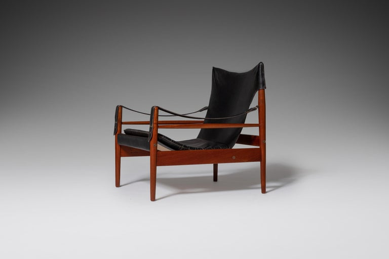 "Danish Hans Olsen ""Antilope"" Safari Lounge Chair, 1960s For Sale"