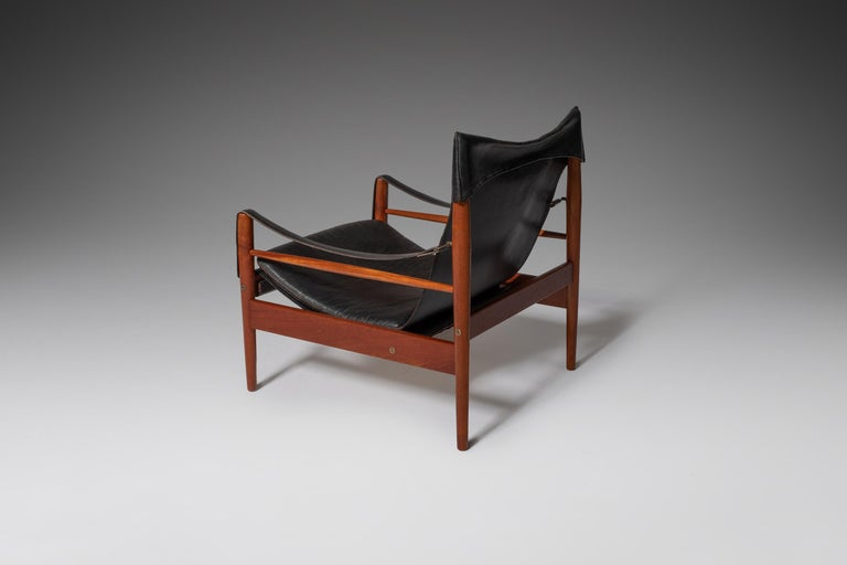 """Hans Olsen """"Antilope"""" Safari Lounge Chair, 1960s In Good Condition For Sale In Rotterdam, NL"""
