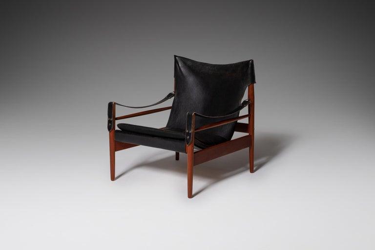 "20th Century Hans Olsen ""Antilope"" Safari Lounge Chair, 1960s For Sale"