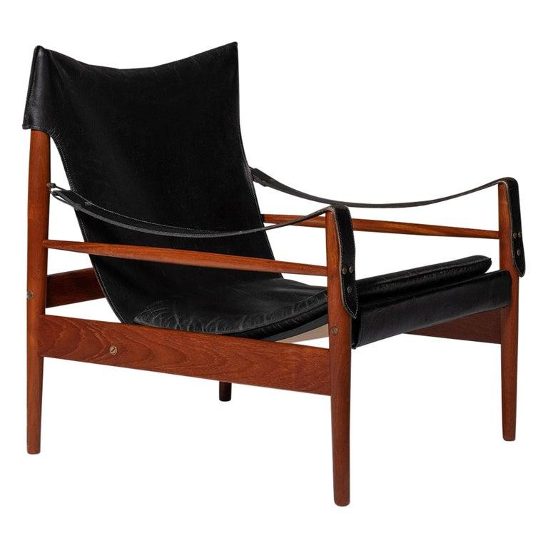 "Hans Olsen ""Antilope"" Safari Lounge Chair, 1960s For Sale"