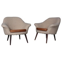 Hans Olsen, Attributed, Pair of Lounge Chairs