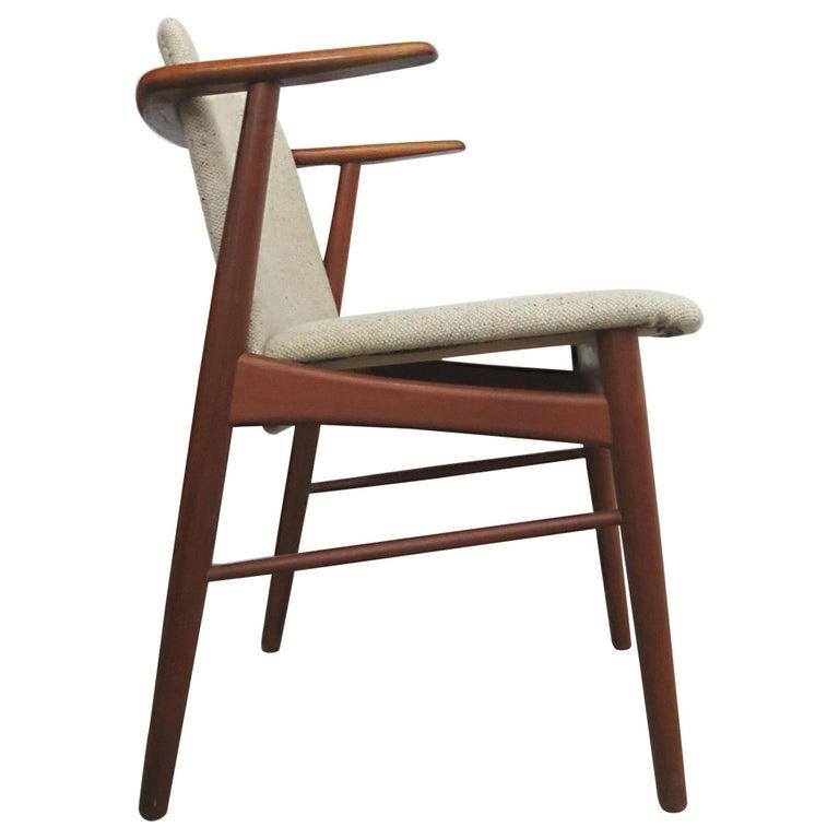 Hans Olsen Bramin Denmark Teak Desk Armchair Chair Danish Design Midcentury For