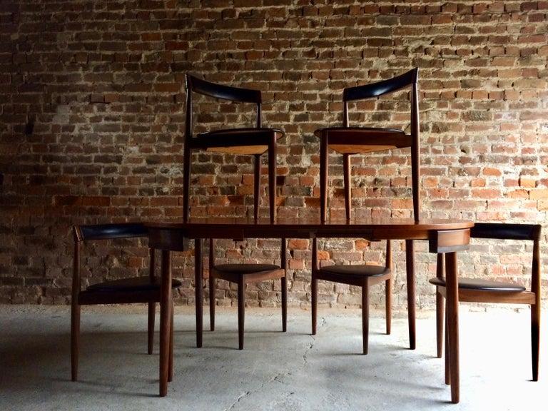 Hans Olsen Dinette Dining Table 6 Chairs Frem Rojle Danish Midcentury Set Two In Excellent