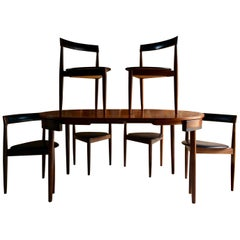 Hans Olsen Dinette Dining Table & 6 Chairs Frem Rojle Danish Midcentury Set Two