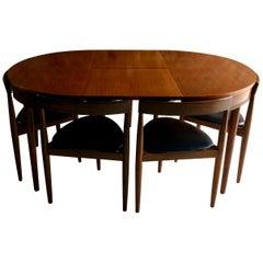 Hans Olsen Dinette Dining Table & 6 Chairs Frem Rojle Danish Midcentury Set Two