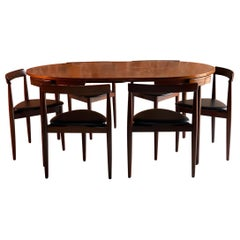 Hans Olsen Dinette Dining Table and 6 Chairs Frem Rojle Danish Midcentury