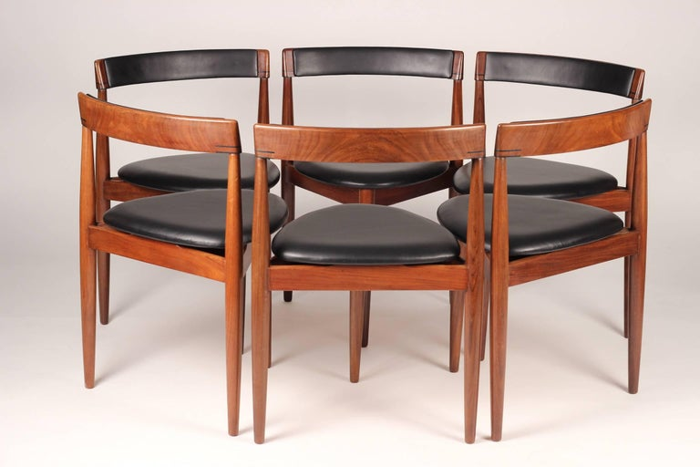 Mid Century Modern Dining Table and Six Chairs Model Roundette by Frem Røjle  For Sale 3