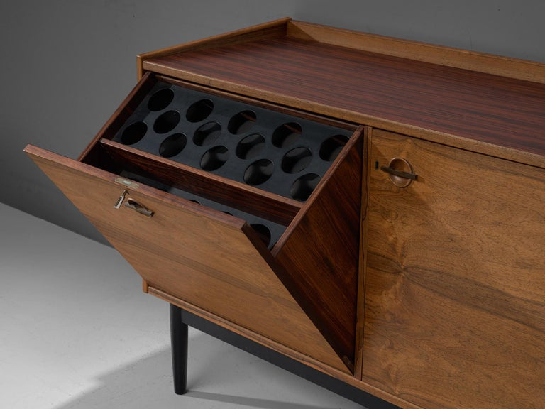 Danish Hans Olsen Dry Bar Cabinet in Rosewood For Sale