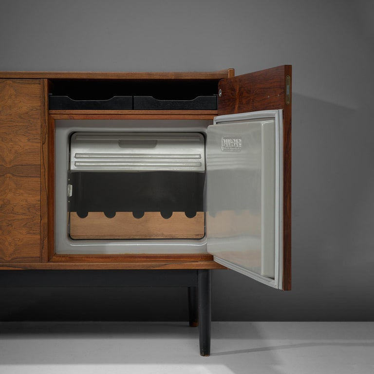 Mid-20th Century Hans Olsen Dry Bar Cabinet in Rosewood For Sale