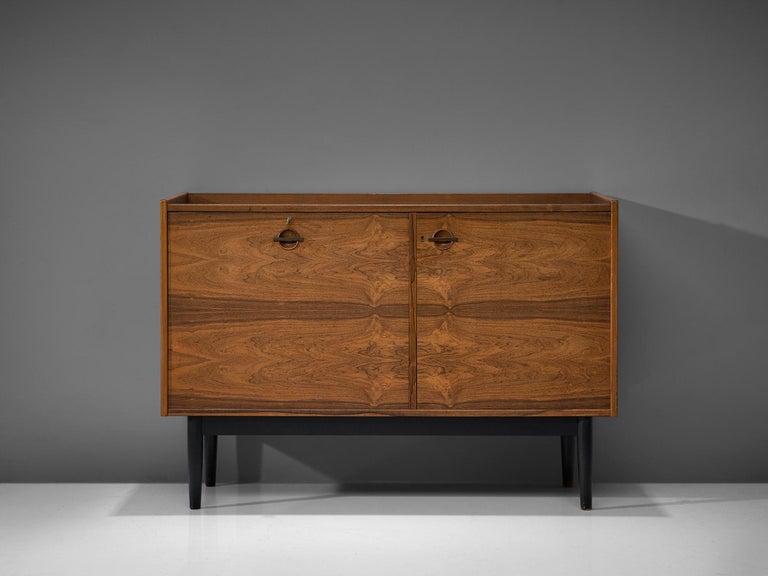 Metal Hans Olsen Dry Bar Cabinet in Rosewood For Sale