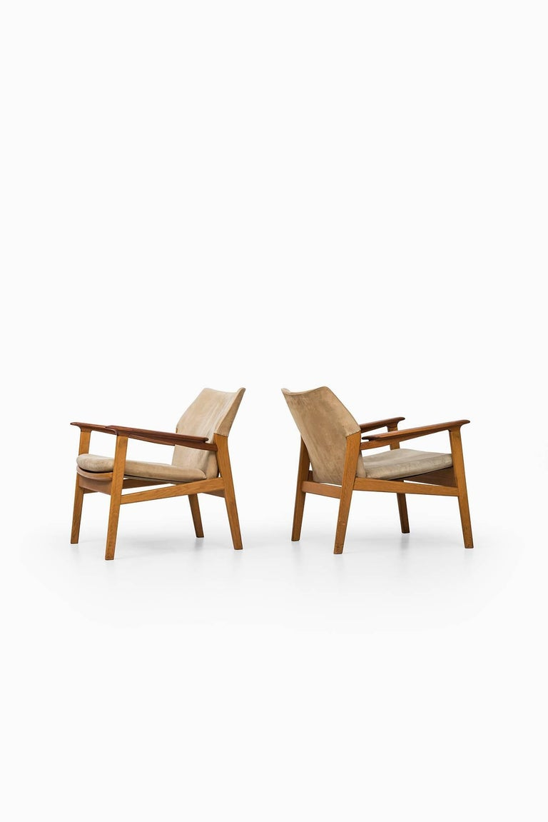 Mid-20th Century Hans Olsen Easy Chairs Model 9015 by Gärsnäs in Sweden For Sale