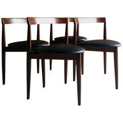Hans Olsen for Frem Røjle Dinette Teak Dining Chairs Set of Four, circa 1960