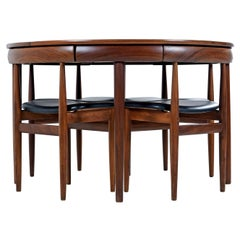 Hans Olsen for Frem Rojle Roundette Dining Table and Chairs