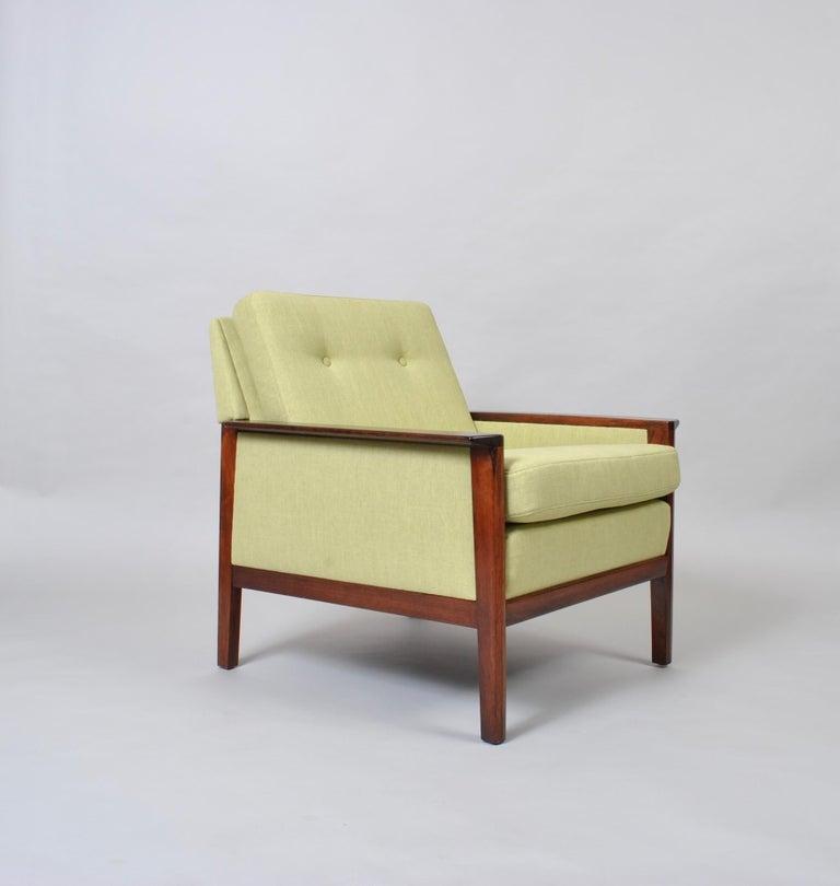 Hans Olsen, Lounge Chair, New Upholstery, Danish Midcentury For Sale 4