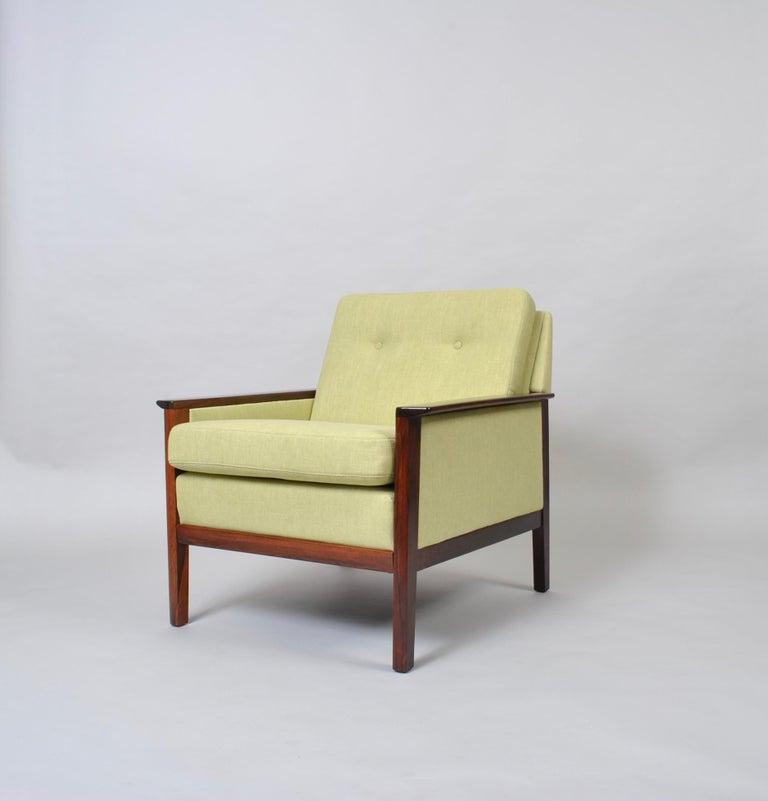 Hans Olsen, Lounge Chair, New Upholstery, Danish Midcentury For Sale 5