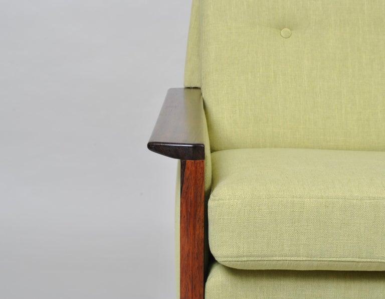 Mid-Century Modern Hans Olsen, Lounge Chair, New Upholstery, Danish Midcentury For Sale
