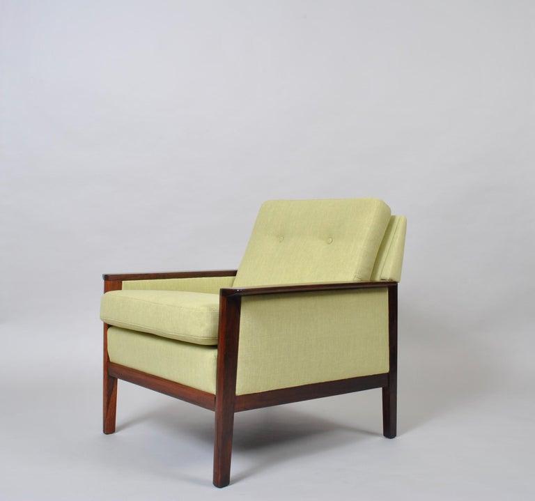20th Century Hans Olsen, Lounge Chair, New Upholstery, Danish Midcentury For Sale