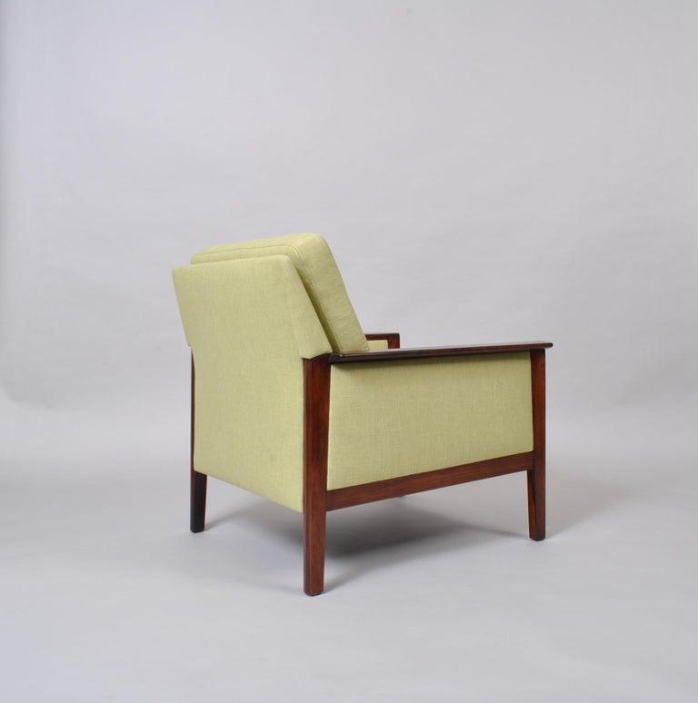 Hans Olsen, Lounge Chair, New Upholstery, Danish Midcentury For Sale 1