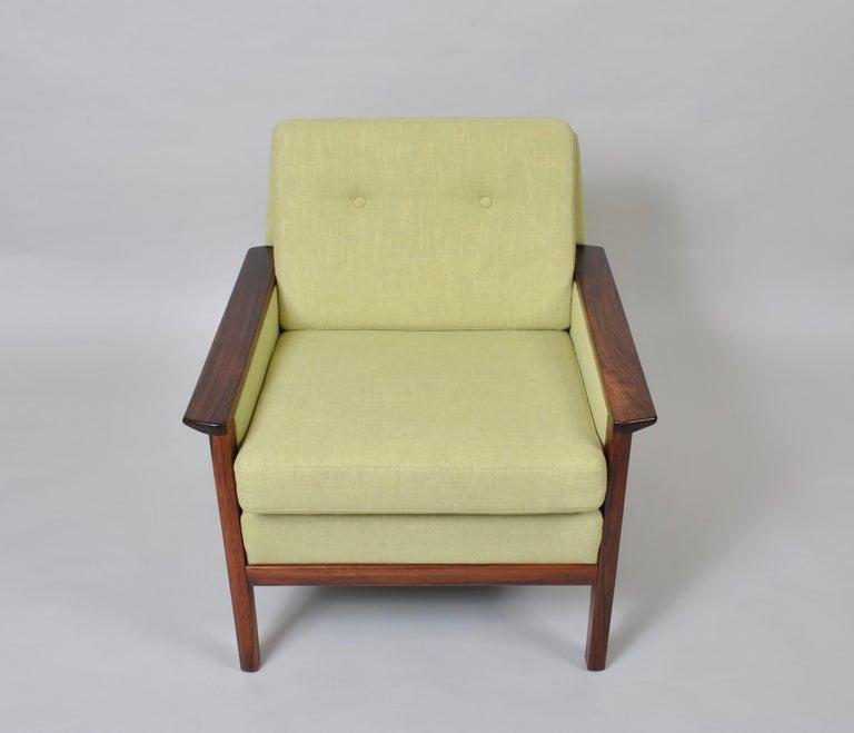 Hans Olsen, Lounge Chair, New Upholstery, Danish Midcentury For Sale 2