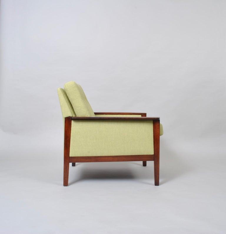 Hans Olsen, Lounge Chair, New Upholstery, Danish Midcentury For Sale 3