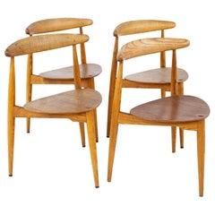 Hans Olsen Mid Century Teak Dining Chairs, Set of 4