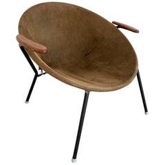 Hans Olsen Midcentury Danish Leather Balloon Chair