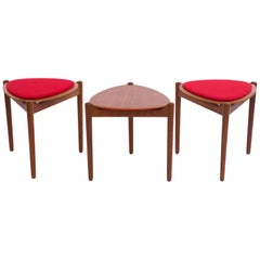 Hans Olsen Reversible-Top Side Tables for Bramin