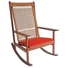 Hans Olsen, Rocking Chair, Juul Kristensen, 1960s
