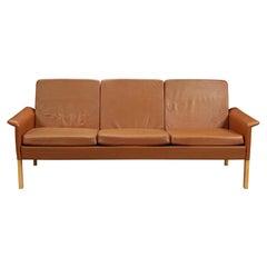Hans Olsen Sofa in Cognac Leather