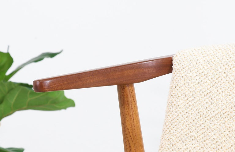 Hans Olsen Teak and Oak Armchair For Sale 6