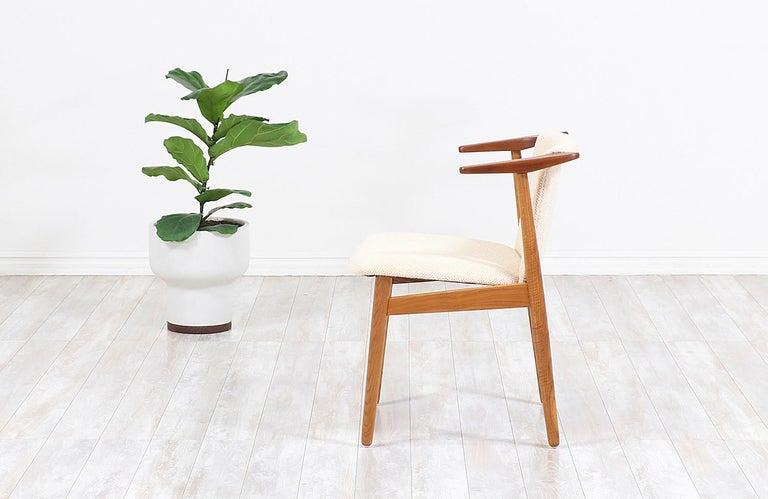 Mid-Century Modern Hans Olsen Teak and Oak Armchair For Sale
