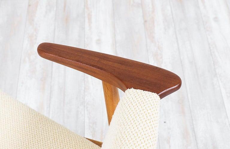 Hans Olsen Teak and Oak Armchair For Sale 1