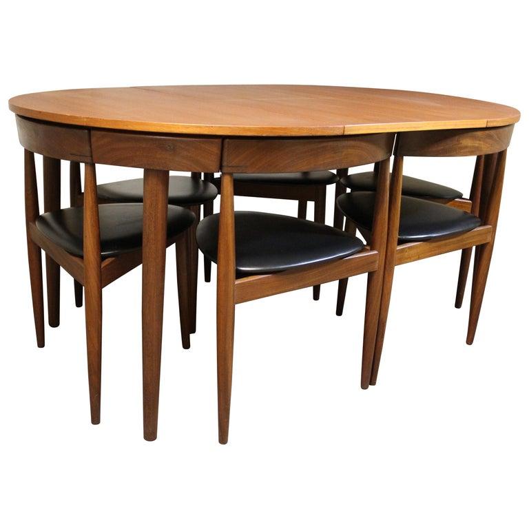 Hans Olsen Teak Roundette Dining Room Set For Frem Rojle Mid