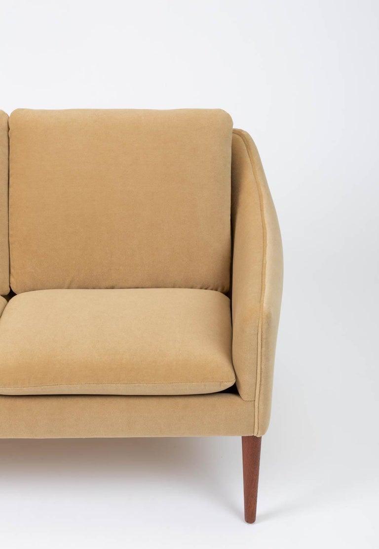 Hans Olsen Three-Seat Sofa in Italian Mohair For Sale 4