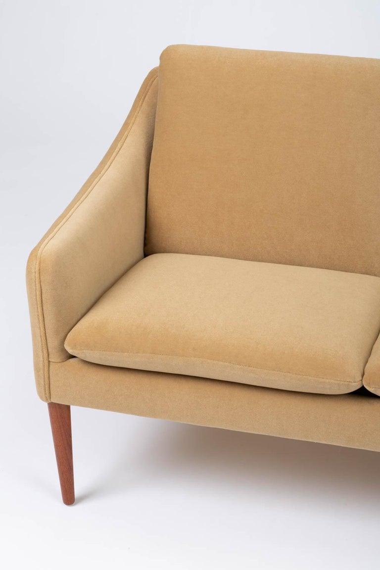 Hans Olsen Three-Seat Sofa in Italian Mohair For Sale 5