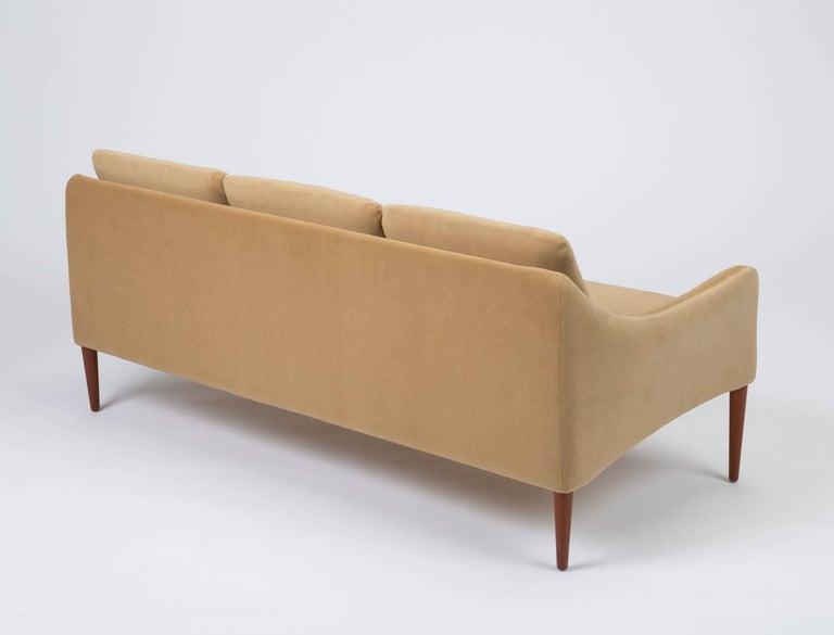 Hans Olsen Three-Seat Sofa in Italian Mohair For Sale 1