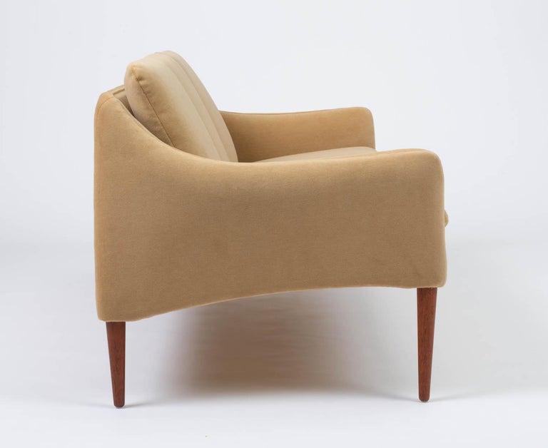 Hans Olsen Three-Seat Sofa in Italian Mohair For Sale 3