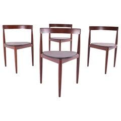 Hans Olsen Triangular Dining Chairs by Frem Røjle, Model Roundette
