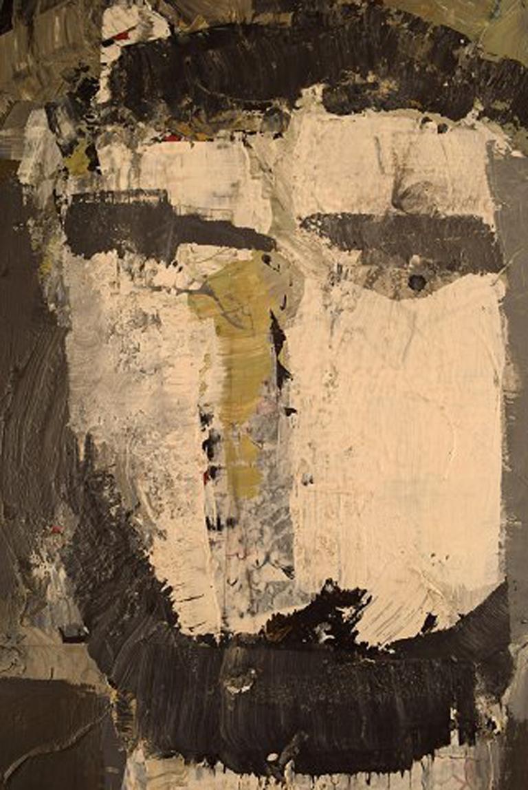 20th Century Hans Osswald, Swedish Artist, Oil on Board, Portrait of Man For Sale