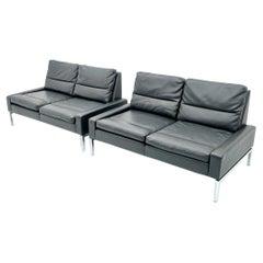Hans Peter Piehl Leatherette Sofa for Wilkhahn, 1968