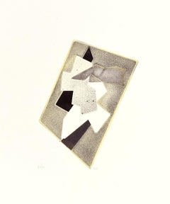Abstract Composition - Original Etching and Aquatint by Hans Richter - 1970s