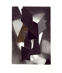 Geometric Composition - Original Etching and Aquatint by Hans Richter - 1973