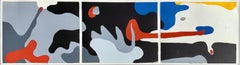"Hans Richter, Triptych ""Transformation - Dusk, Night, Dawn"", serigraph on paper"