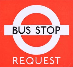 Hans Schleger 'Zero' London Transport Bus Stop Request c. 1970 Original Poster