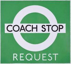 Hans Schleger 'Zero' London Transport Coach Stop Request Original Poster