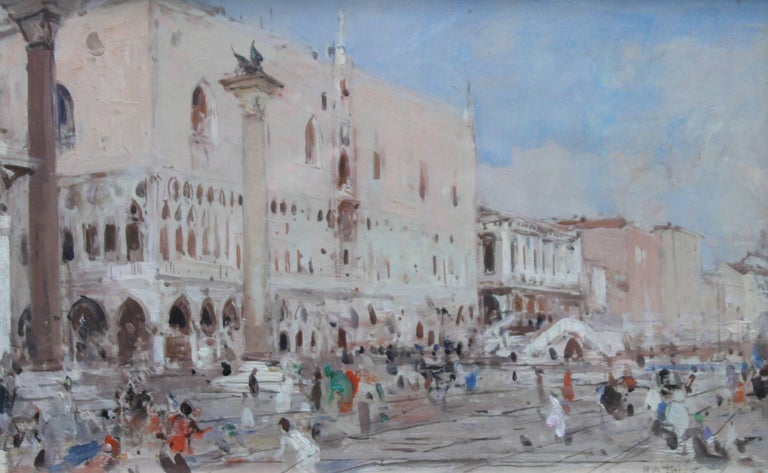Venice - British Impressionist 19thC art oil painting venetian canals Italy For Sale 1