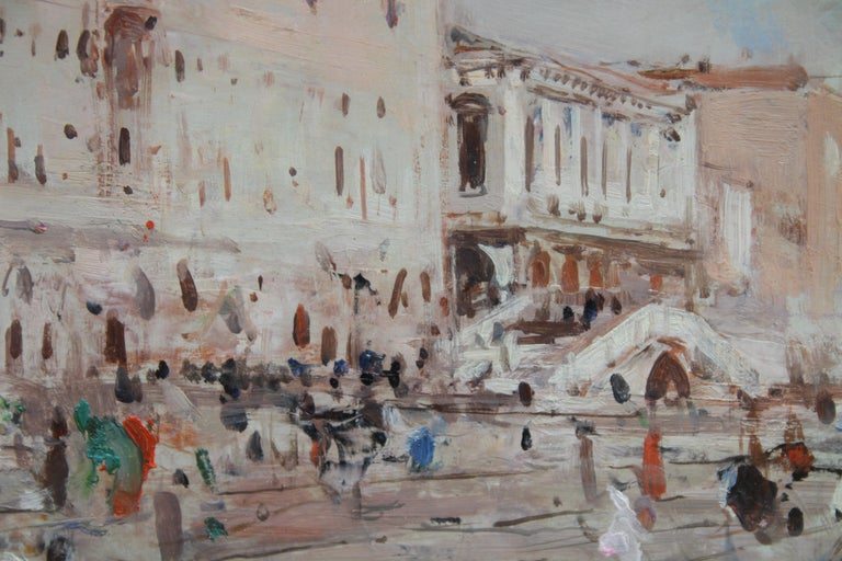 Venice - British Impressionist 19thC art oil painting Venetian canals Italy For Sale 2