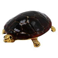 Hans Turnwald Collection Gold-Plated Turtle Box, circa 1960